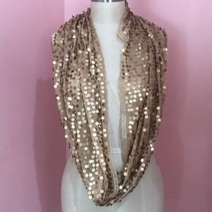 Accessories - Gold sequence scarf